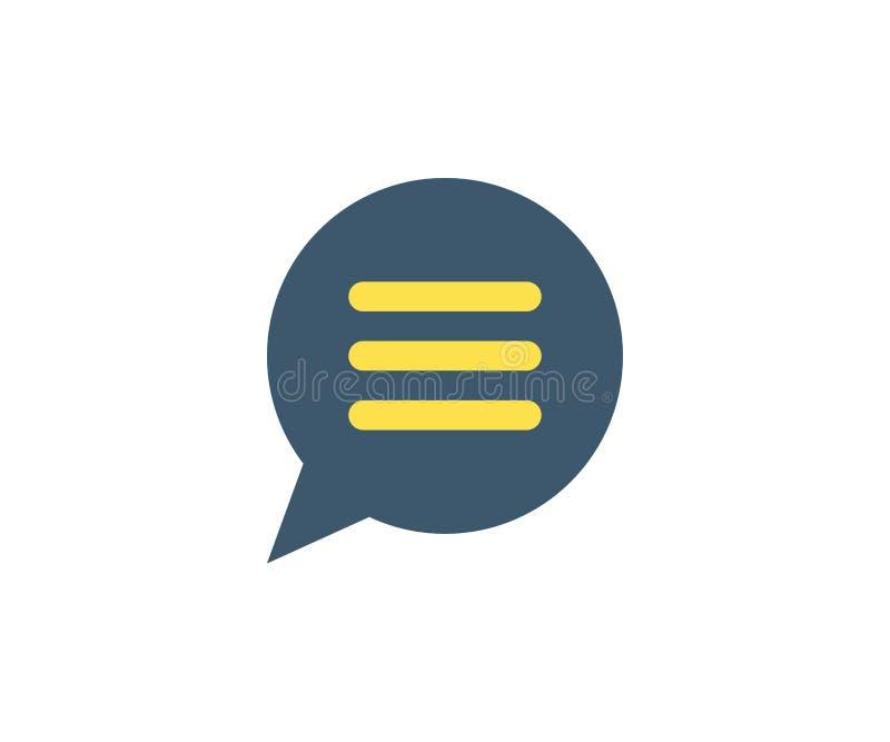 Icono del mensaje Ejemplo del vector en estilo minimalista plano libre illustration