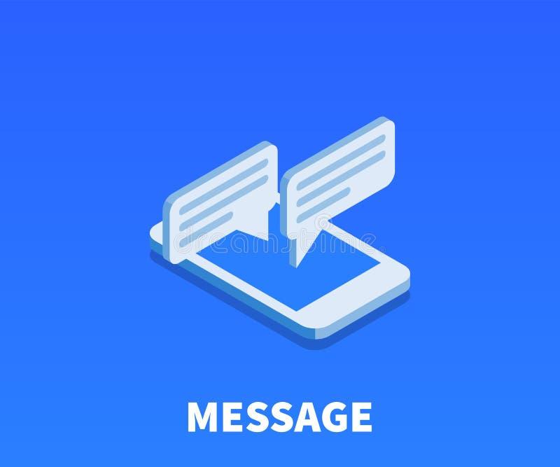 Icono del mensaje, símbolo del vector ilustración del vector