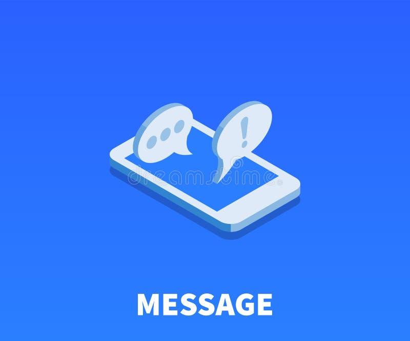 Icono del mensaje, símbolo del vector stock de ilustración