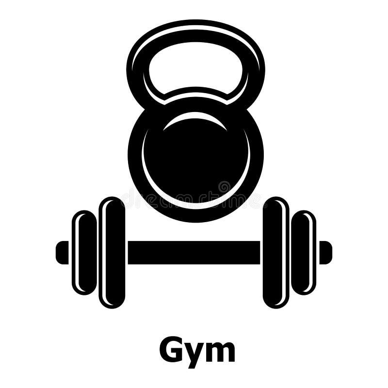 Icono del metall del gimnasio, estilo negro simple libre illustration
