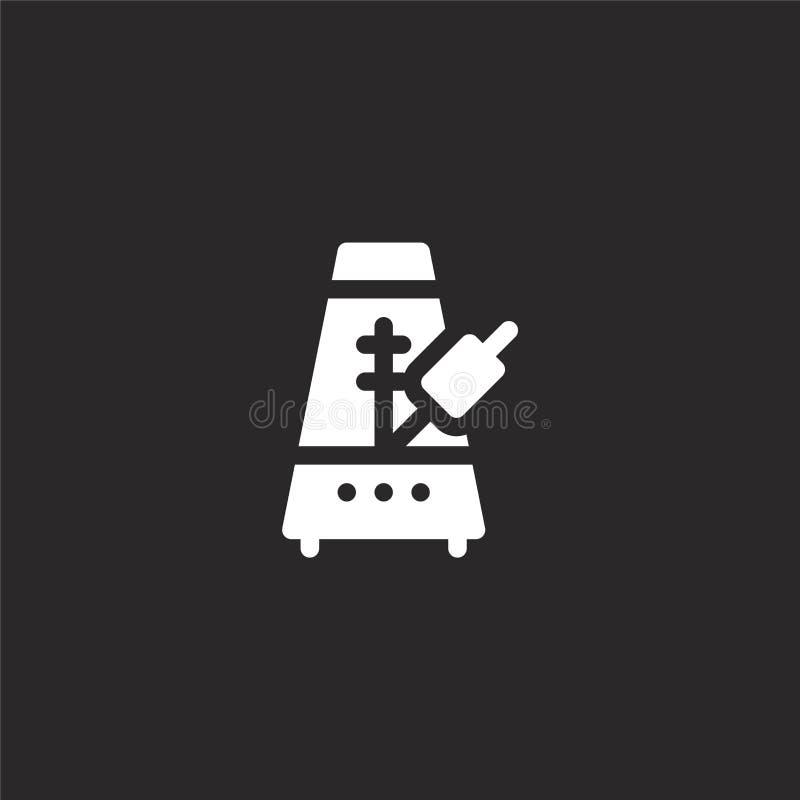Icono del metr?nomo Icono llenado del metrónomo para el diseño y el móvil, desarrollo de la página web del app icono del metrónom ilustración del vector