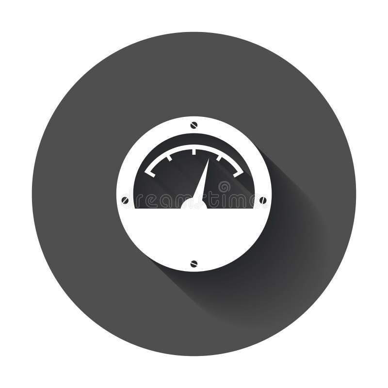 Icono del metro eléctrico ilustración del vector