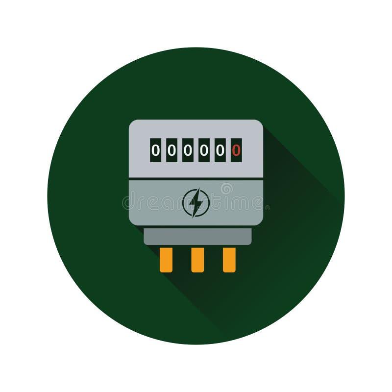 Icono del metro eléctrico stock de ilustración