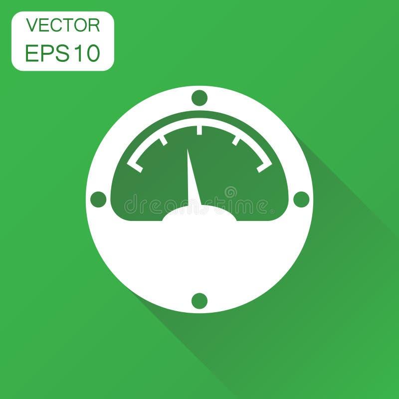 Icono del metro eléctrico Pictograma del metro de poder del concepto del negocio stock de ilustración
