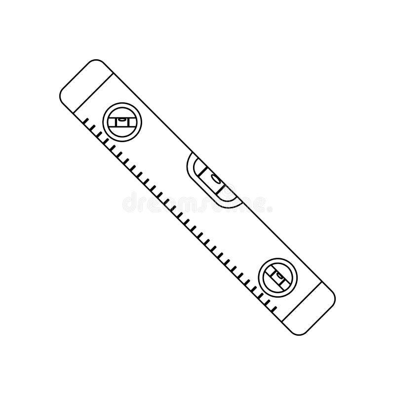 icono del metro del nivel del color Elemento de las herramientas de la construcci?n para el concepto y el icono m?viles de los ap stock de ilustración