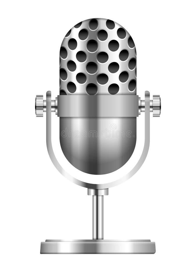 Icono del micrófono ilustración del vector