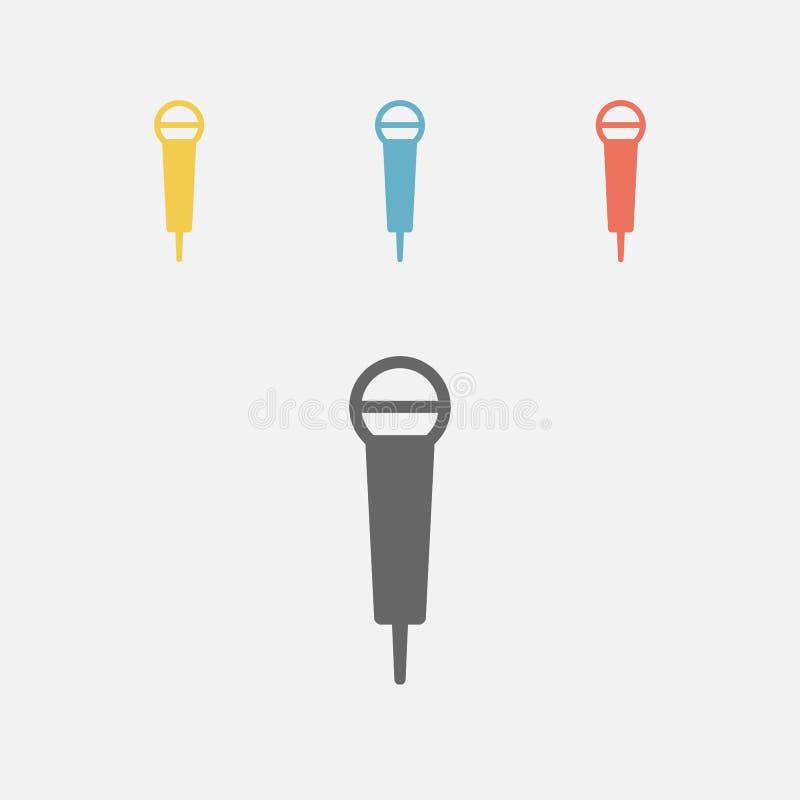 Icono del micrófono stock de ilustración