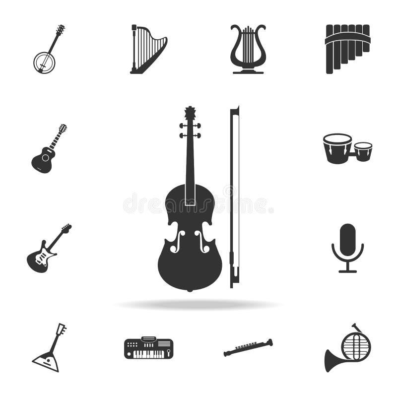 Icono del micrófono Iconos detallados del sistema de los iconos del elemento del instrumento de música Diseño gráfico de la calid libre illustration