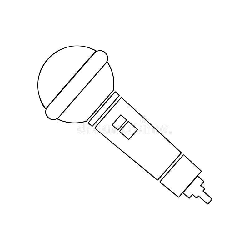 Icono del micr?fono Elemento del instrumento de m?sica para el concepto y el icono m?viles de los apps de la web Esquema, l?nea f stock de ilustración