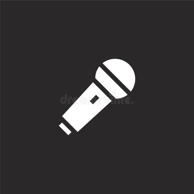 Icono del micr?fono Icono llenado del micrófono para el diseño y el móvil, desarrollo de la página web del app icono del micrófon ilustración del vector