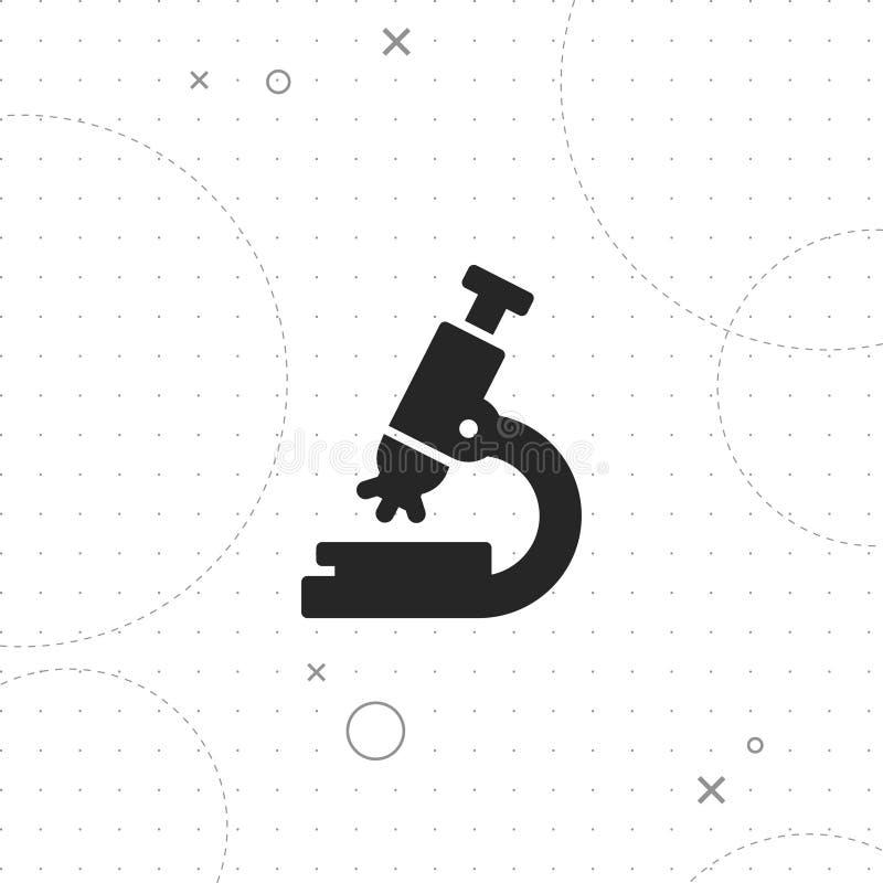 Icono del microscopio, icono microscópico stock de ilustración