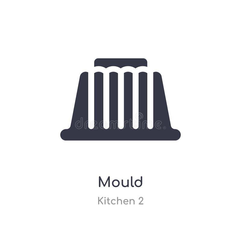 icono del molde ejemplo aislado del vector del icono del molde de la colección de la cocina 2 editable cante el s?mbolo puede ser libre illustration