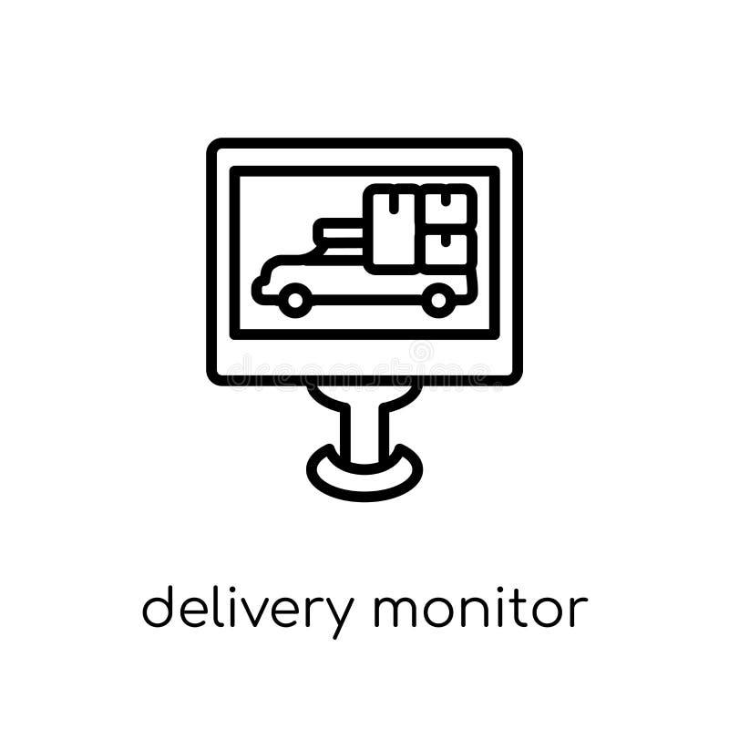 Icono del monitor de la entrega de la entrega y de la colección logística libre illustration