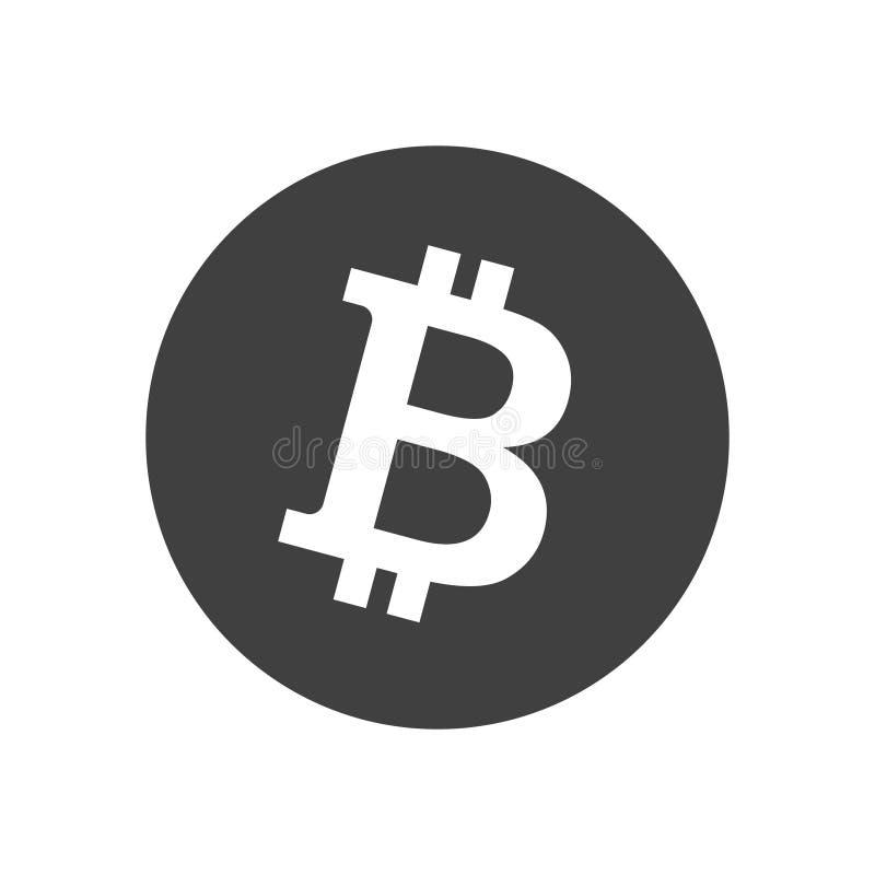 Icono del monocromo de Bitcoin Ilustración del vector stock de ilustración