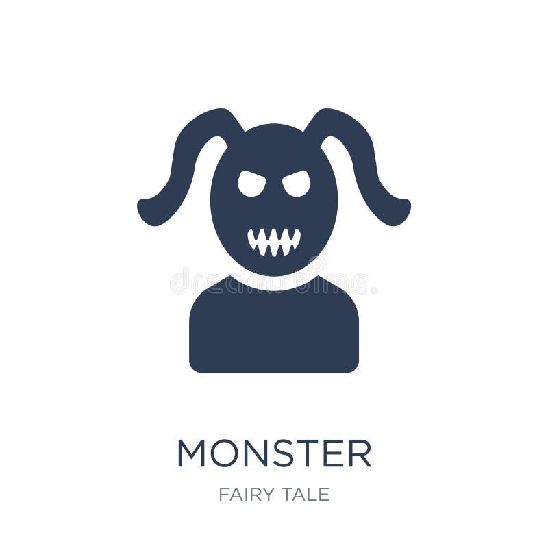 Icono del monstruo  stock de ilustración