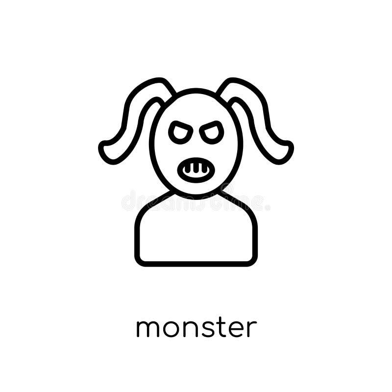 Icono del monstruo  ilustración del vector
