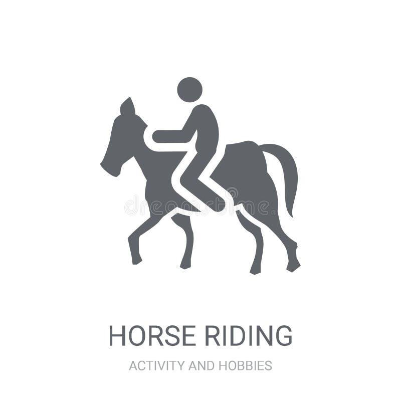 Icono del montar a caballo  stock de ilustración