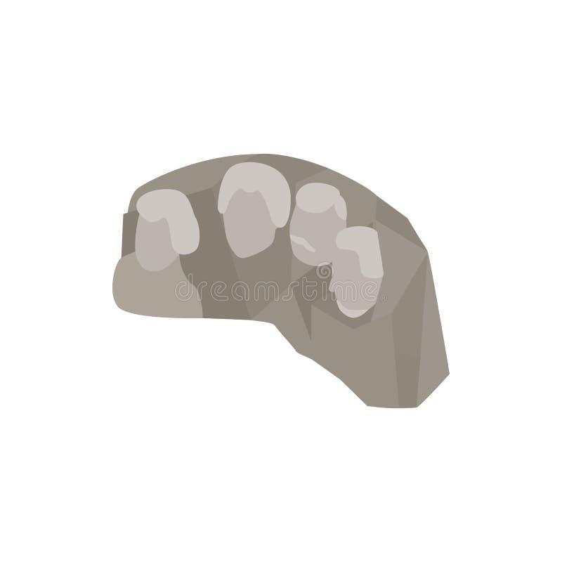 Icono del monte Rushmore, estilo isométrico 3d stock de ilustración