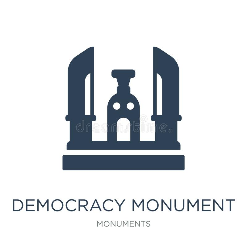 icono del monumento de la democracia en estilo de moda del diseño icono del monumento de la democracia aislado en el fondo blanco stock de ilustración