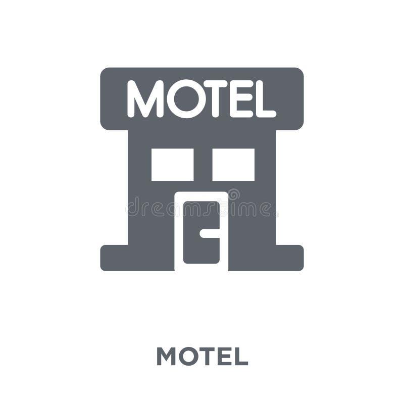 Icono del motel de la colección ilustración del vector