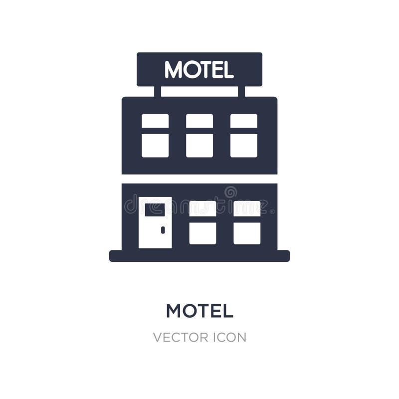 icono del motel en el fondo blanco Ejemplo simple del elemento del concepto de los elementos de la ciudad libre illustration