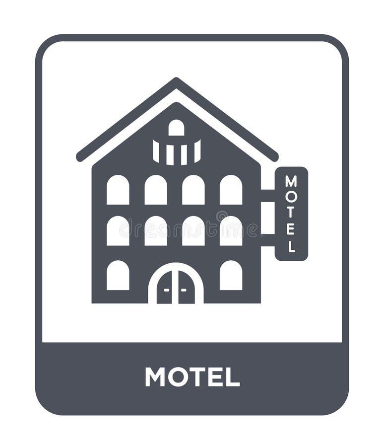 icono del motel en estilo de moda del diseño icono del motel aislado en el fondo blanco símbolo plano simple y moderno del icono  ilustración del vector