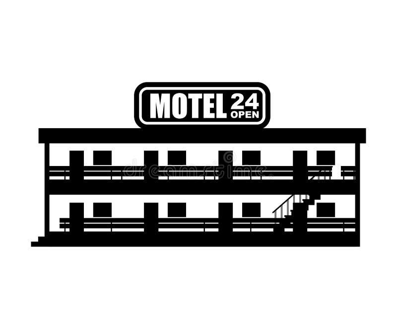 Icono del motel Pequeño ejemplo barato del vector del hotel ilustración del vector