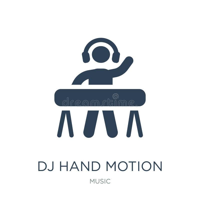 icono del movimiento de la mano de DJ en estilo de moda del diseño icono del movimiento de la mano de DJ aislado en el fondo blan libre illustration