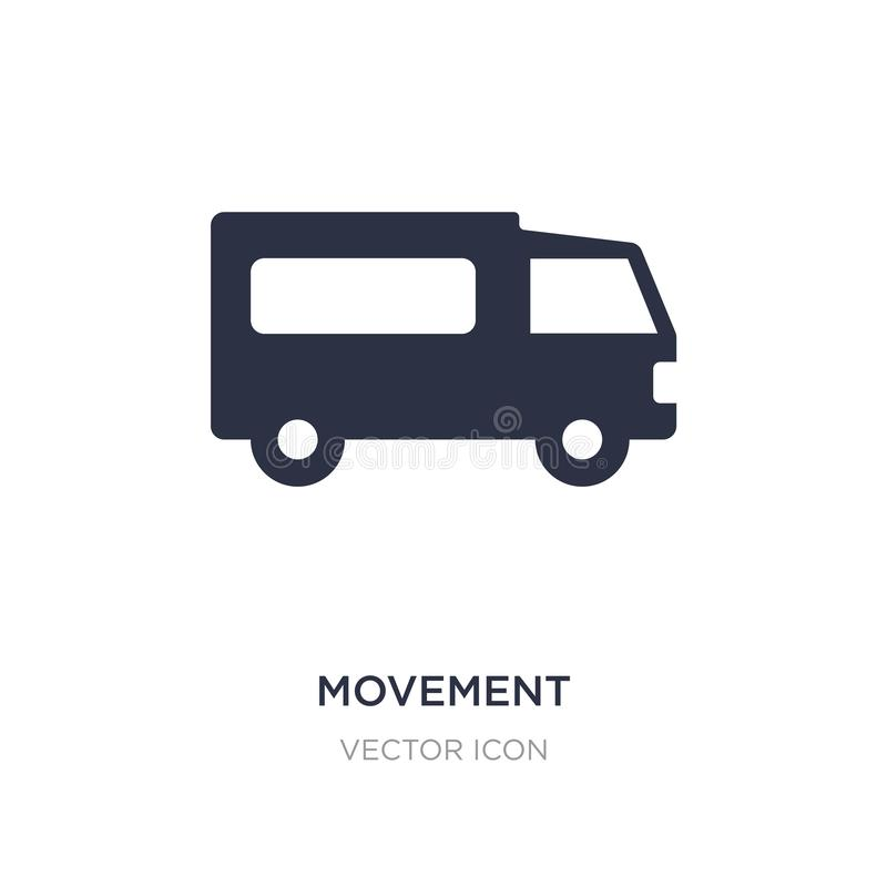 icono del movimiento en el fondo blanco Ejemplo simple del elemento del concepto del transporte libre illustration