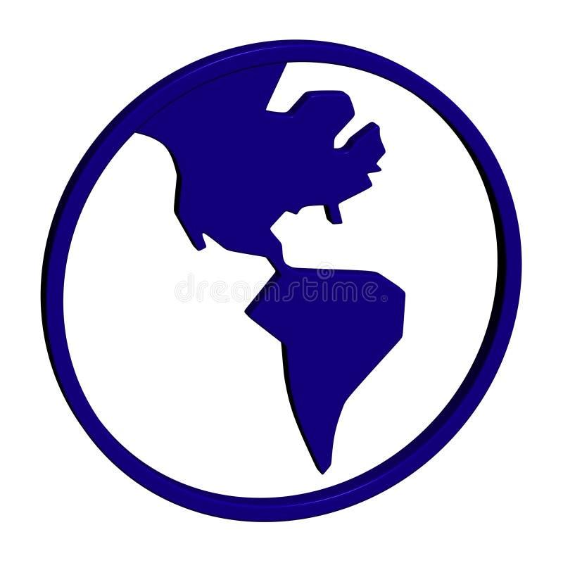 Icono del mundo stock de ilustración