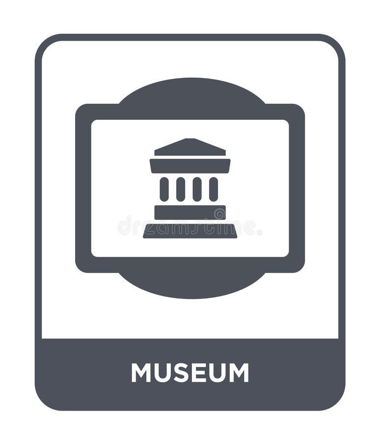 icono del museo en estilo de moda del diseño icono del museo aislado en el fondo blanco símbolo plano simple y moderno del icono  ilustración del vector