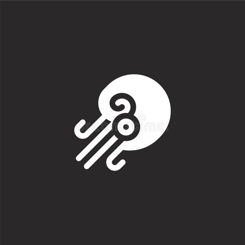 Icono del nautilus Icono llenado del nautilus para el diseño y el móvil, desarrollo de la página web del app icono del nautilus d libre illustration