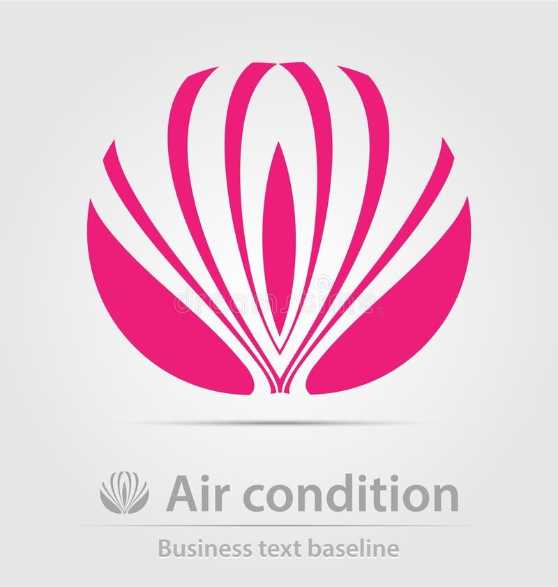 Icono del negocio de la condición del aire ilustración del vector