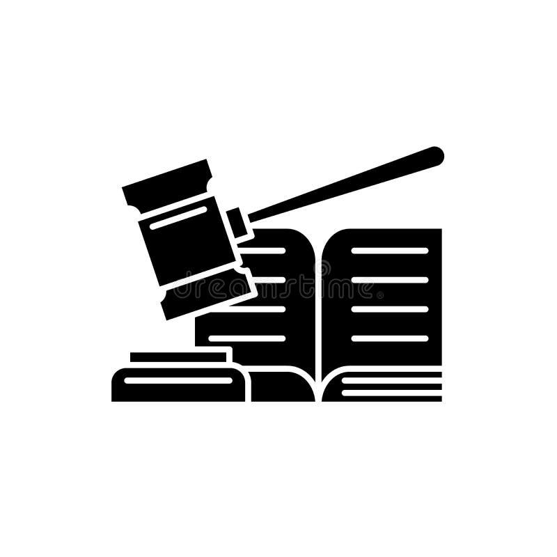 Icono del negro de la decisión, muestra del vector en fondo aislado Símbolo del concepto de la decisión, ejemplo stock de ilustración