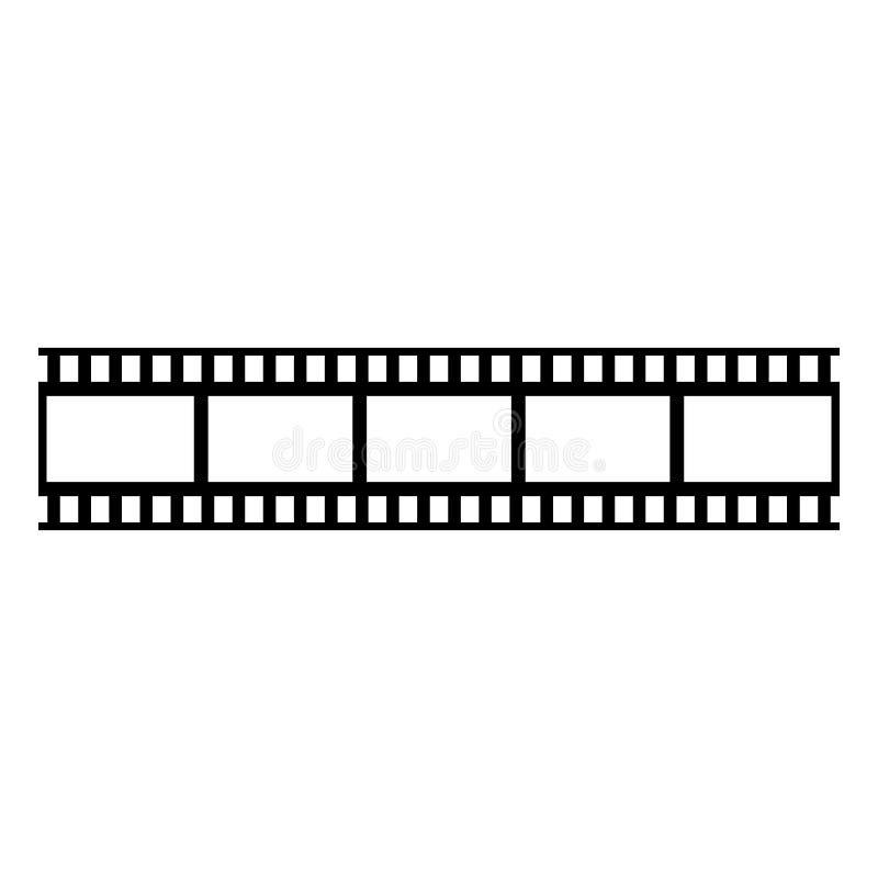 Icono del negro del vector de la película de la cámara de Photografic ilustración del vector
