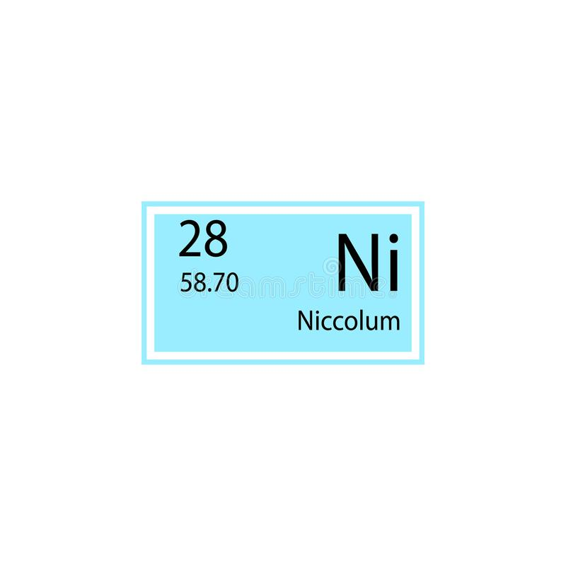 Icono del niccolum del elemento de tabla periódica Elemento del icono químico de la muestra Icono superior del diseño gráfico de  libre illustration