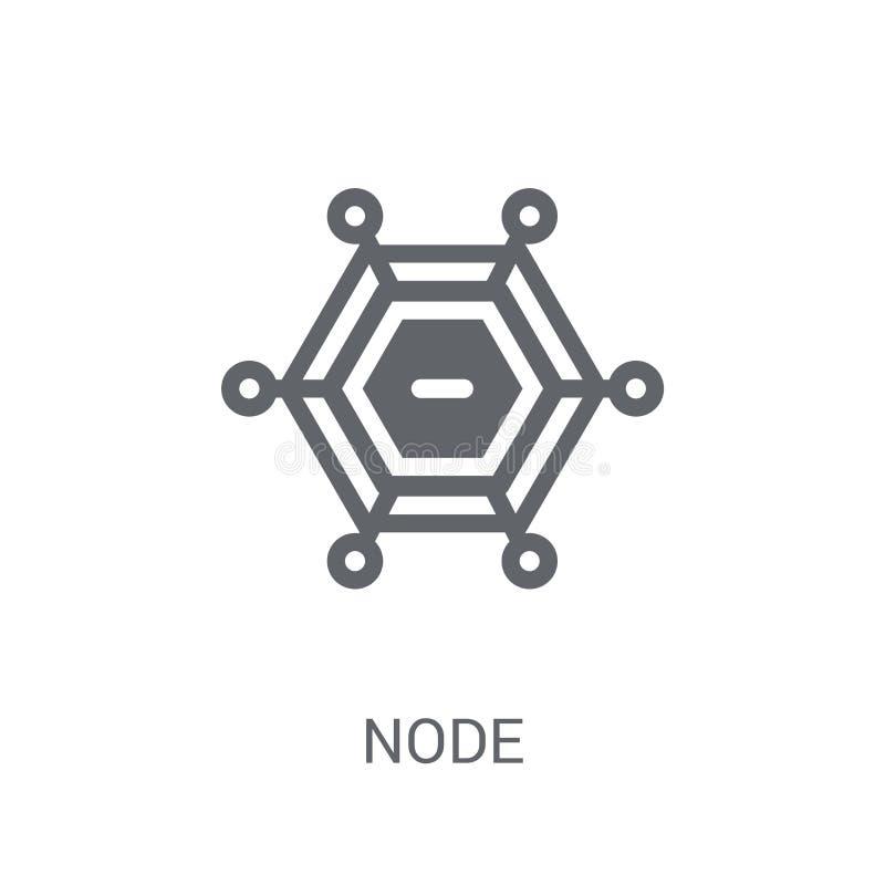Icono del nodo Concepto de moda del logotipo del nodo en el fondo blanco del grito ilustración del vector