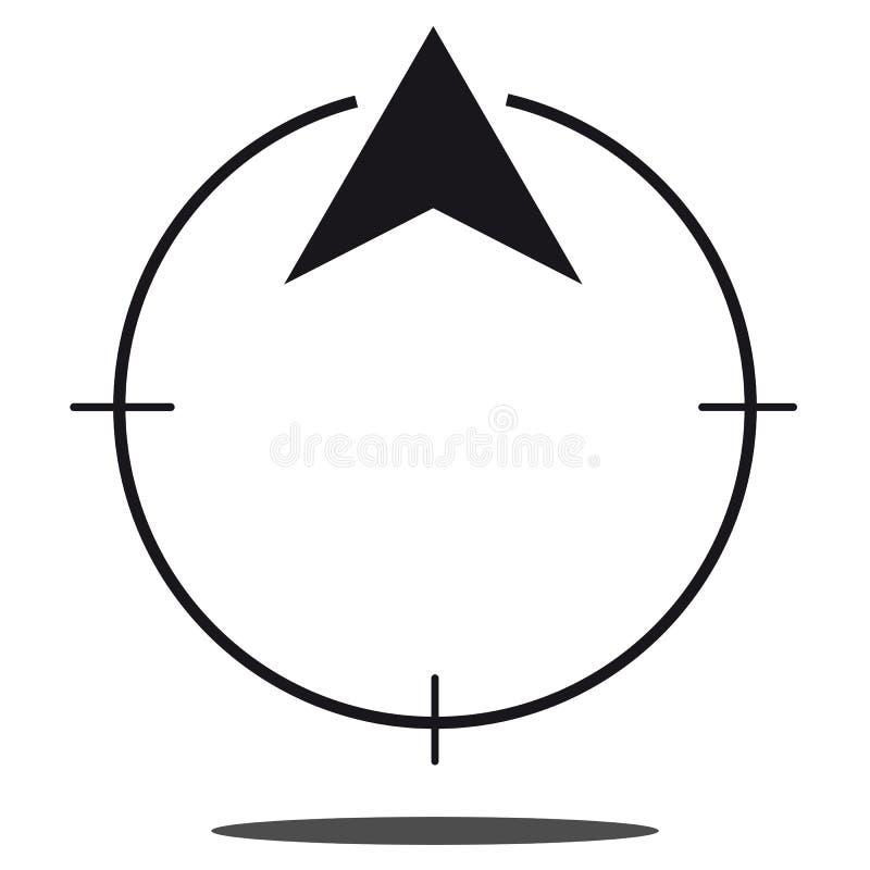 Icono del norte del compás de la dirección - gráfico de vector libre illustration