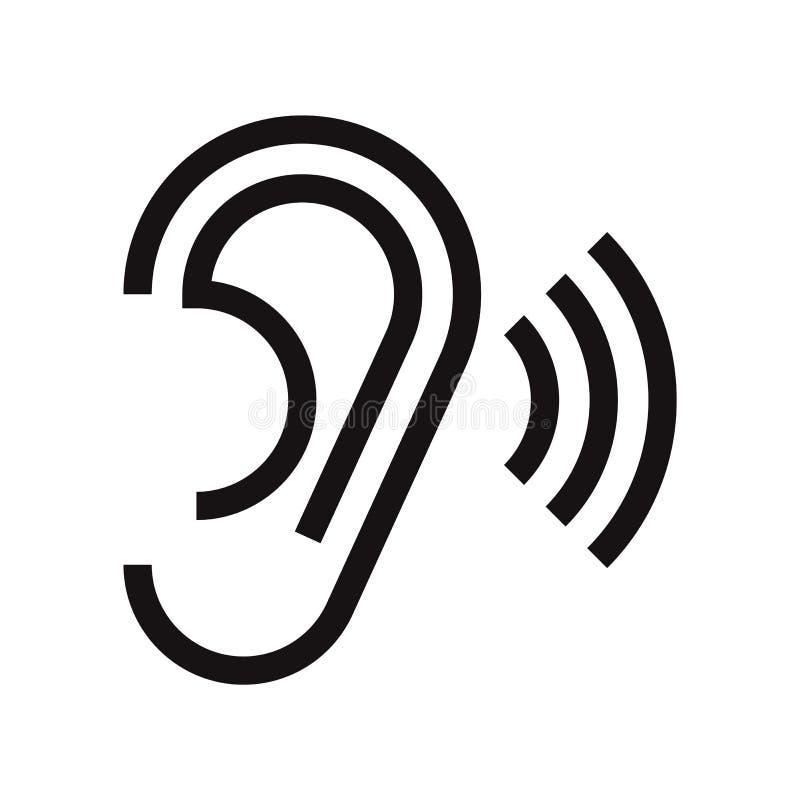 Icono del oído stock de ilustración