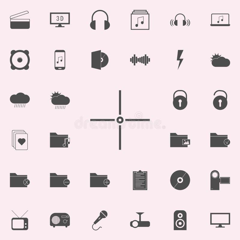 Icono del objetivo sistema universal de los iconos del web para el web y el móvil stock de ilustración