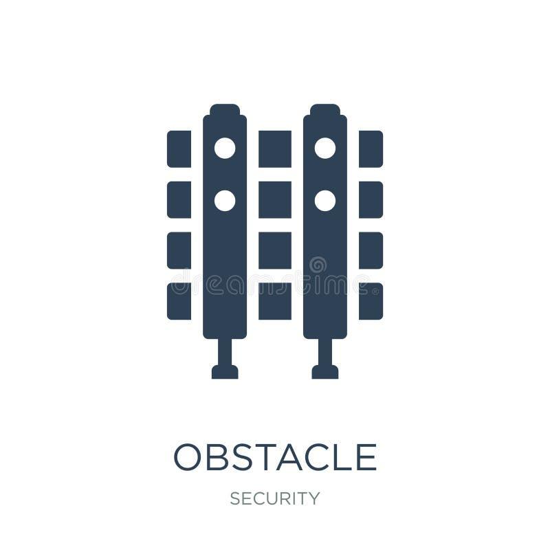 icono del obstáculo en estilo de moda del diseño icono del obstáculo aislado en el fondo blanco plano simple y moderno del icono  stock de ilustración