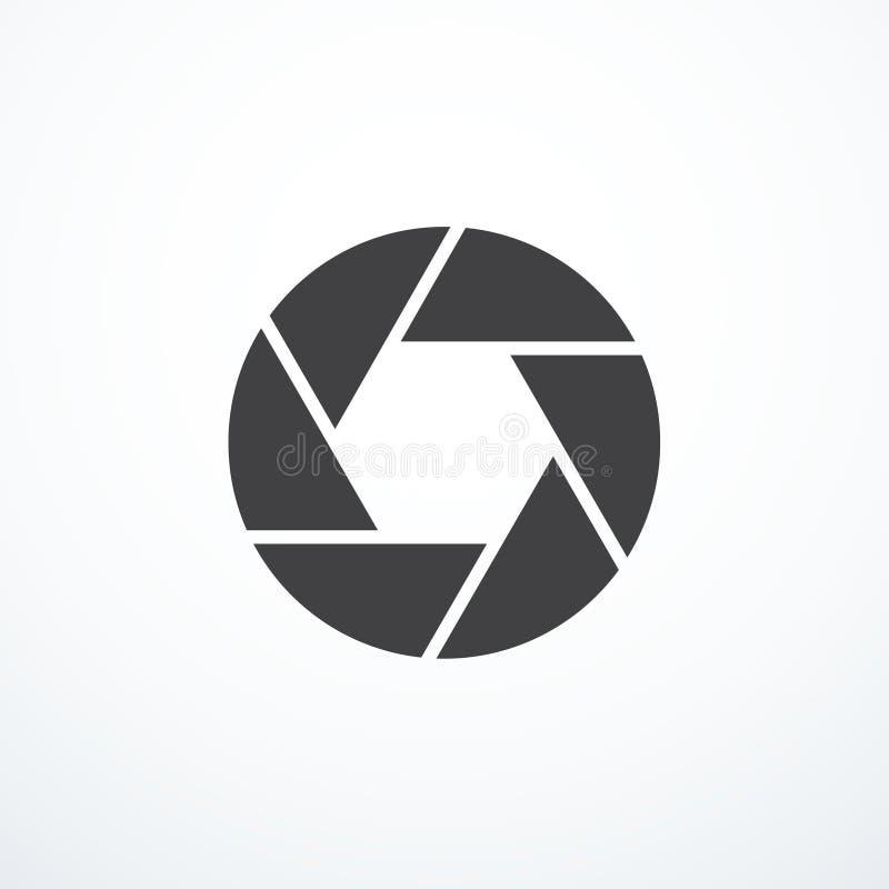 Icono del obturador del vector ilustración del vector