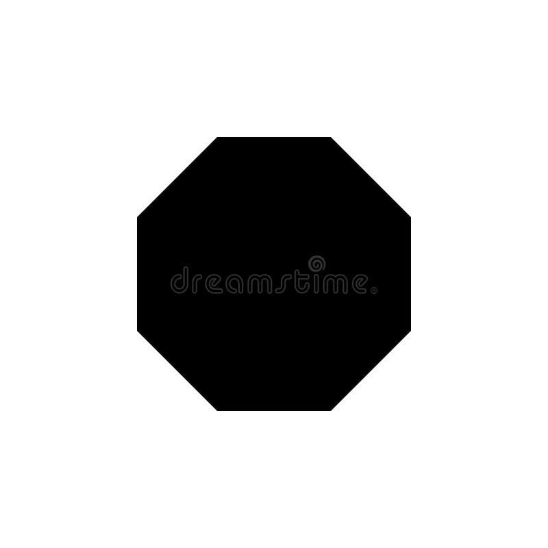 Icono del octágono Elementos de la figura geométrica icono para los apps del concepto y del web Icono del ejemplo para el diseño  imagenes de archivo