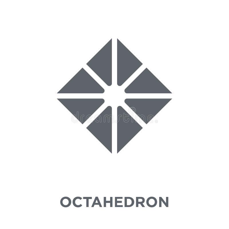 Icono del octaedro de la colección de la geometría libre illustration