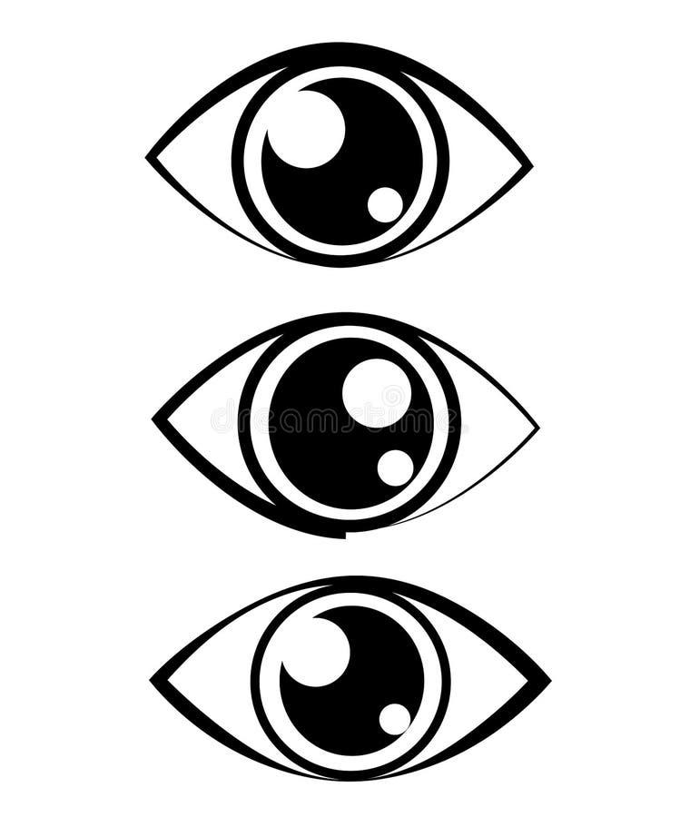 Download Icono del ojo ilustración del vector. Ilustración de pestañas - 100533662