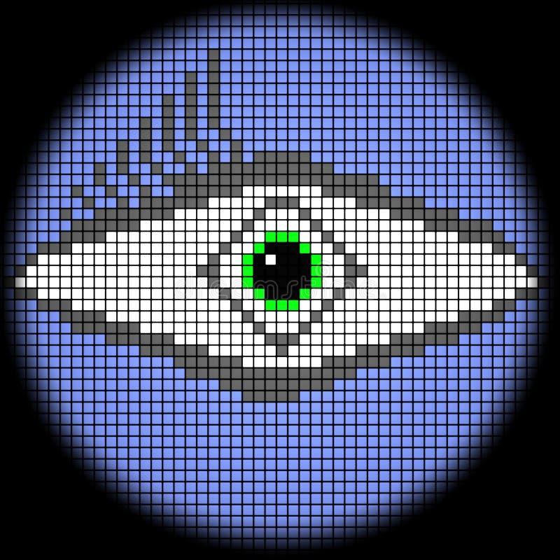 Icono del ojo stock de ilustración