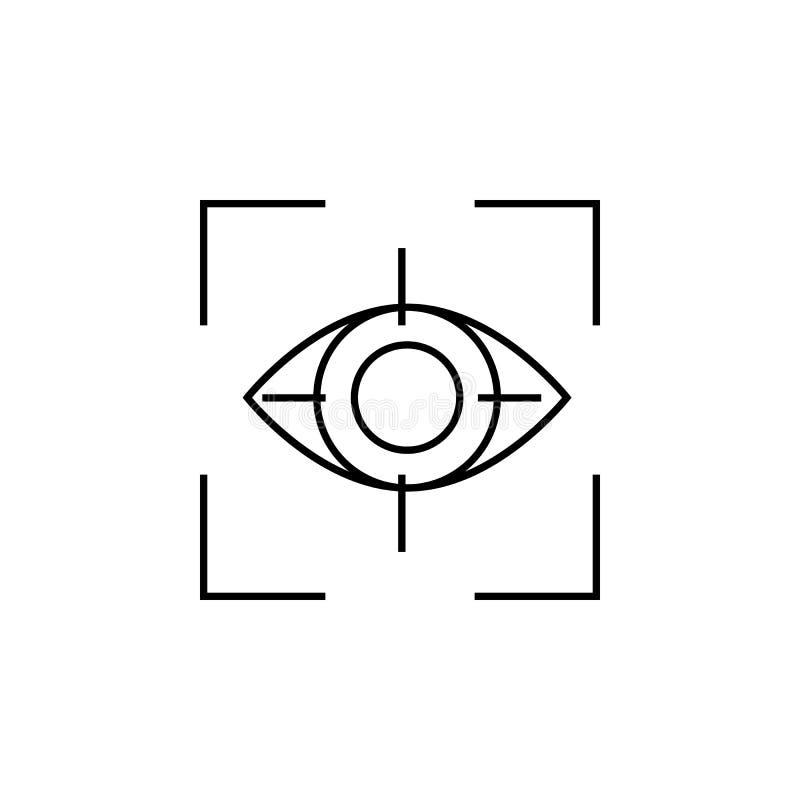 Icono del ojo Elementos del icono cibernético de la seguridad Diseño gráfico de la calidad superior Muestras, icono de la colecci stock de ilustración