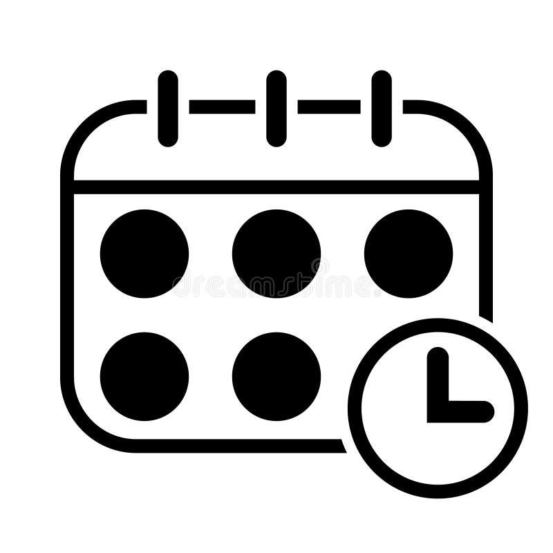 Icono del orden del d?a del calendario Ejemplo del vector del planificador Concepto del negocio del calendario stock de ilustración
