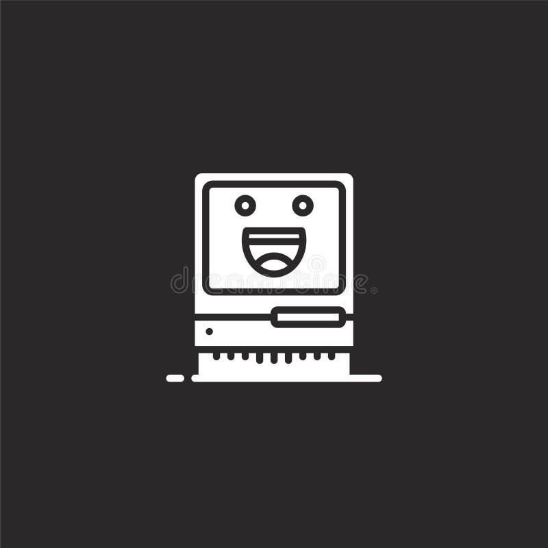 Icono del ordenador Icono llenado del ordenador para el diseño y el móvil, desarrollo de la página web del app icono del ordenado ilustración del vector