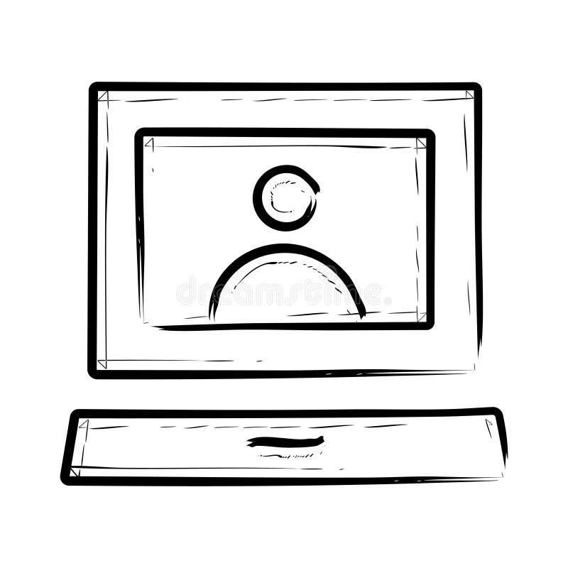 Icono del ordenador portátil libre illustration